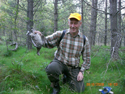 Grouse huting in the forrest